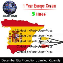 Cccam Clines Server For 1 Year Europe Spain Portugal For DVB-S2 Receptor Satelite Receiver For Freesat V8 Super , V7 HD etc.