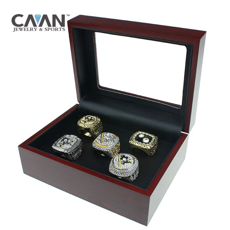 5 pcs/set 1991 1992 2009 2016 2017 PITTSBURGH PENGUINS STANLEY CUP replica championship ring Sidney Crosby For Fans Gift