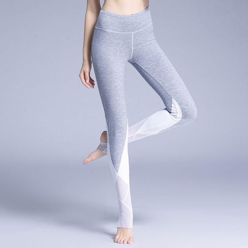 New Arrival Women's Coast Leggings Mesh Stirrup Legging High Waist Mesh Panel Gym Elastic Yoga Trousers Workout Pants for female