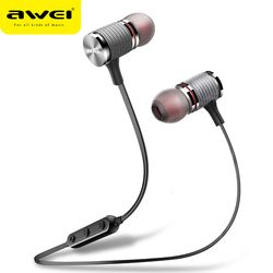 Awei T12 Earphone Headphone Bluetooth Nirkabel Headset dengan MIC Auriculares Fone De Ouvido Earpiece Earbud untuk Ponsel