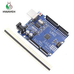 high quality One set HWAYEH UNO R3 CH340G+MEGA328P Chip 16Mhz for arduino UNO R3 Development board (NO USB CABLE) MEGA 2560 R3