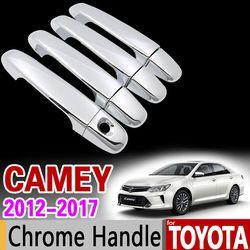 Untuk Toyota Camry 2012-2017 XV50 Chrome Handle Cover Trim Set untuk Daihatsu Altis Aurion 2013 2015 2016 Aksesoris mobil Styling