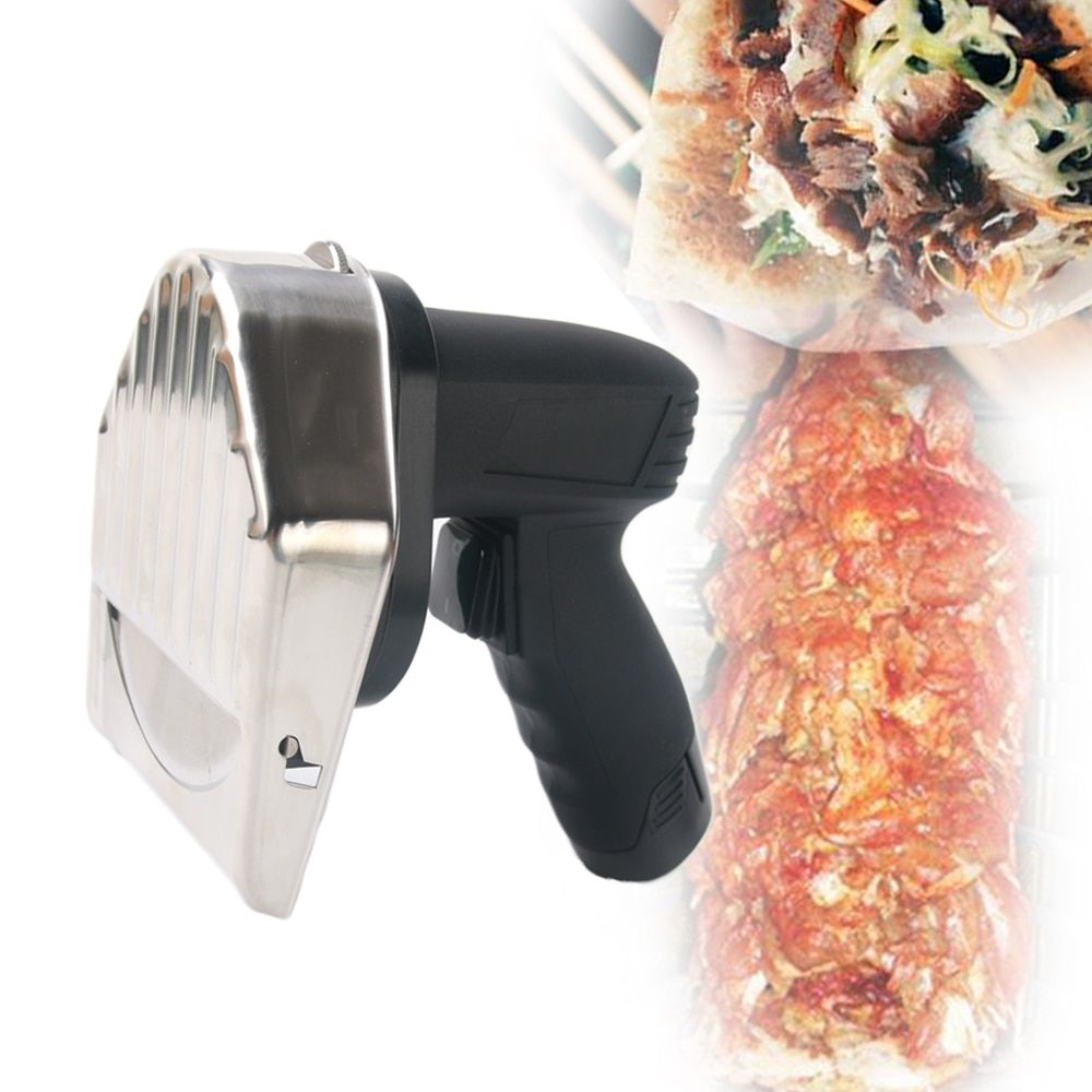 Heiße verkäufe Drahtlose Kebab Slicer mit Batterie Shawarma Döner Messer Türkei Elektrische Gyros Schneiden Fleisch Lebensmittel Maschine 110 v- 220 v