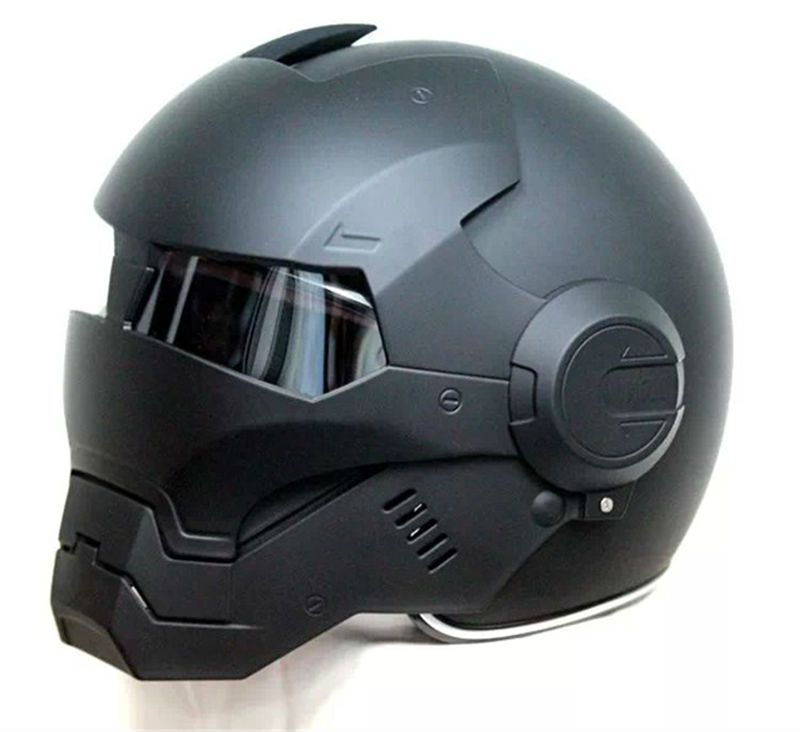 2016 Top hot Black MASEI IRONMAN Iron Man <font><b>helmet</b></font> motorcycle <font><b>helmet</b></font> half <font><b>helmet</b></font> open face <font><b>helmet</b></font> casque motocross 610 SIZE:M L XL