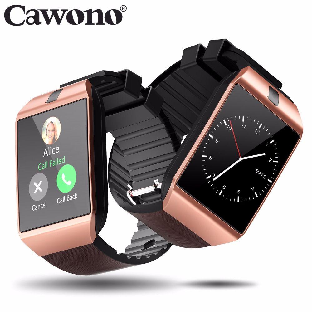 Cawono Bluetooth DZ09 Montre Smart Watch Relogio Android Smartwatch Appel Téléphonique SIM TF Caméra pour IOS iPhone Samsung HUAWEI VS Y1 q18