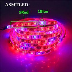 5050 светодиодный осветителе для саженцев 50 см 1 м 2 м 3 м 4 м 5 м Водонепроницаемый DC12V красные, синие 3:1, 4:1, 5:1, для теплицы для гидропонного выращи...