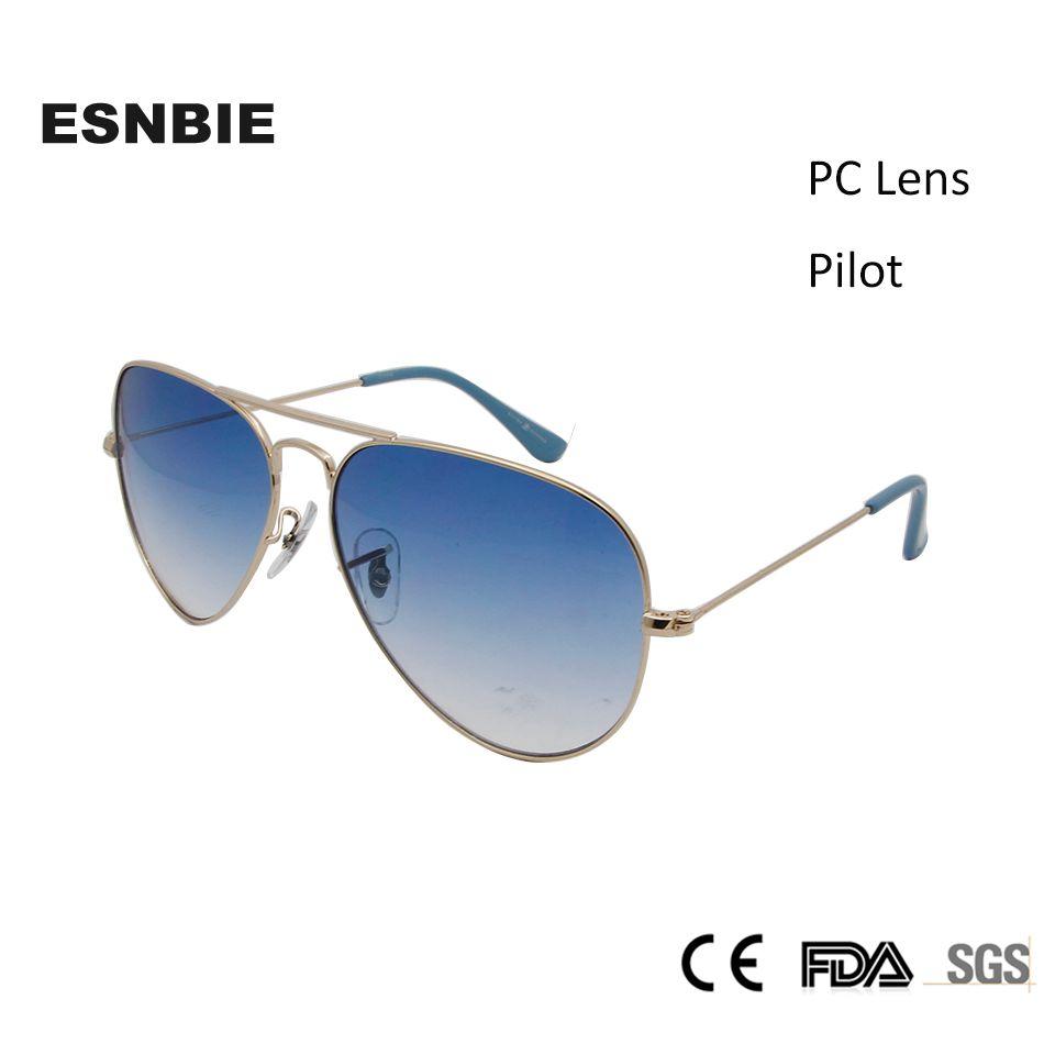ESNBIE classique lunettes de soleil pilote 3025 Design 58mm hommes dégradé lentille oculos mâle en acier inoxydable lunettes de soleil hommes femmes Vintage