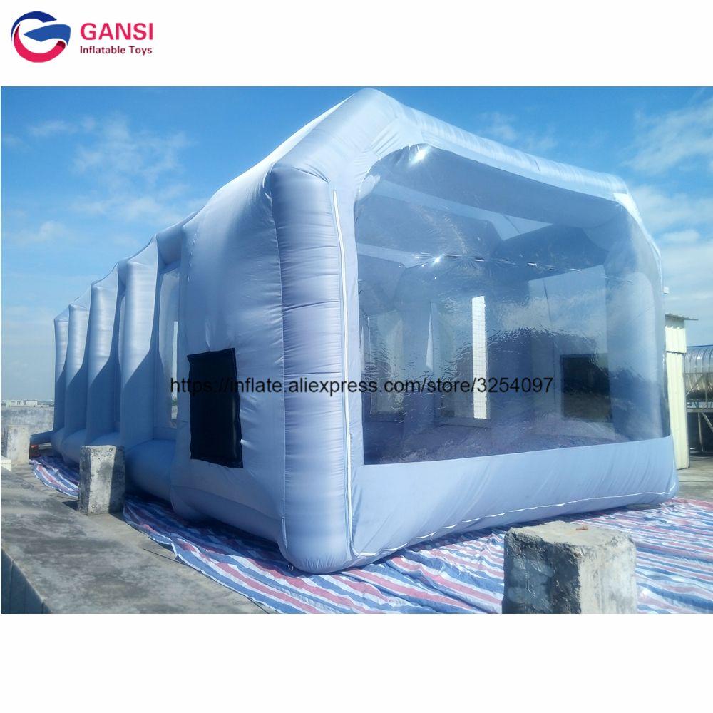 10*5*3,5 mt Aufblasbare spray lackierkabine für verkauf, guangzhou fabrik preis mobilen arbeits station aufblasbare auto malerei zelt