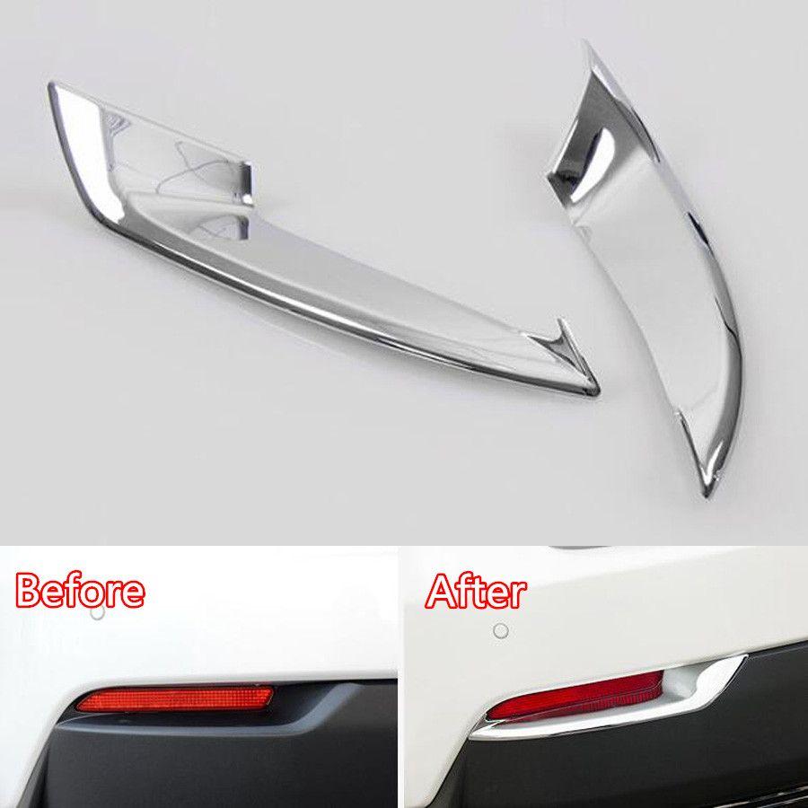 YAQUICKA Chrome ABS Auto Auto Hinten Schwanz Nebelscheinwerfer Lampe Rahmen Trim Abdeckung Styling Für Lexus NX NX200 300 h 2015 2016 Zubehör