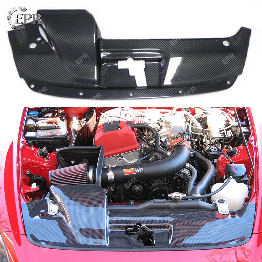Für HONDA S2000 (2001-2005) carbon Kühlung Slam Panel Körper Kit Tuning Teil Tirm Racing Für S2000 Carbon Fiber Kühlung Abdeckung