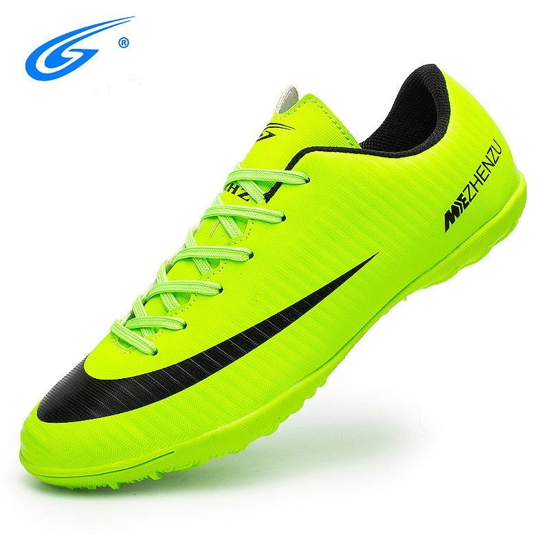 ZHENZU Professional Men Kids Turf Indoor Soccer Shoes Cleats Original Superfly futsal Football Boots Sneakers chaussure de foot
