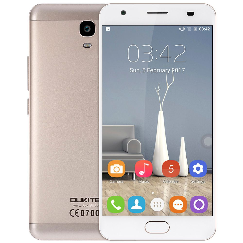 <font><b>OUKITEL</b></font> K6000 Plus 4G Phablet MTK6750T Octa Core 1.5GHz 4GB RAM 64GB ROM 8.0MP + 16.0MP Cameras 6080mAh Battery Front Touch ID