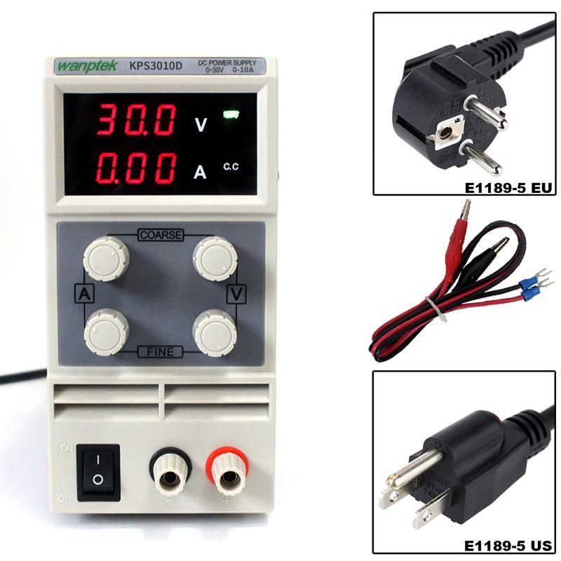 KPS3010D Mini LED Digital Adjustable DC Power Supply ,0~30V 0~10A ,110V-220V, Switching Power Supply 0.1V/0.01A
