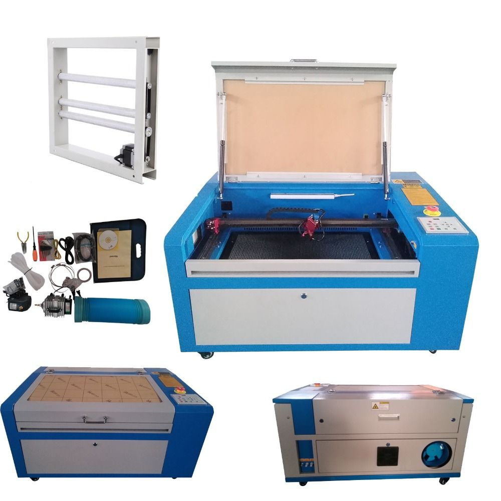 (Ship from USA) 50W CO2 Laser Engraving Cutting Machine CNC Engraver Cutter High Precise USB Port