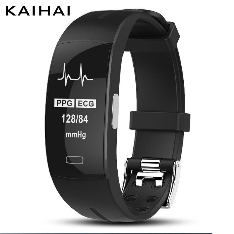 KAIHAI H66 high <font><b>blood</b></font> pressure band heart rate monitor PPG+ECG smart bracelet fitness tracker Watch intelligent GPS Trajectory