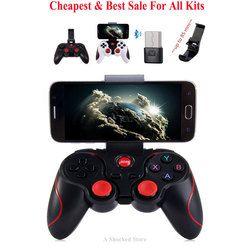 T3 Gamepad teléfono inteligente controlador de juego Joystick inalámbrico Bluetooth 3,0 Android Gamepad juegos de Control remoto PK X3 S3 S5 Gamepad