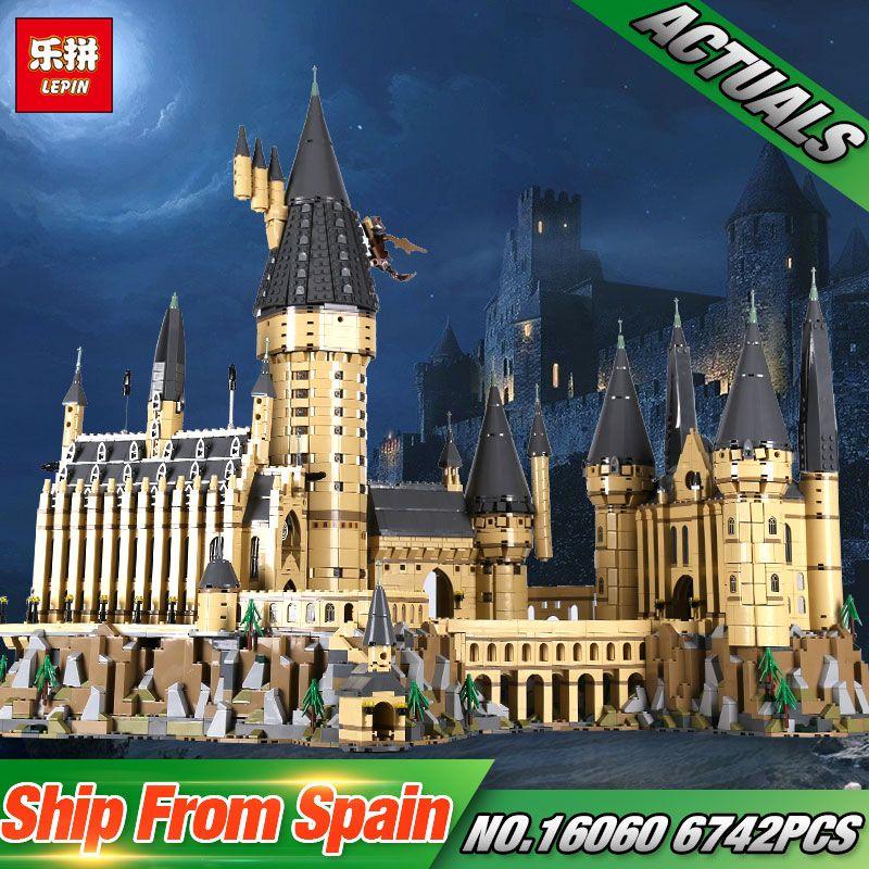 Lepin 16060 Harry Movie Potter Series The 71043 Hogwarts Castle Set Building Blocks Bricks Kids Toys House Model Christmas Gifts