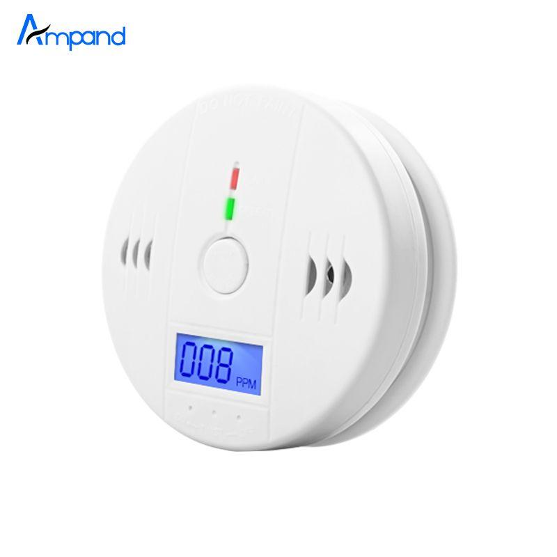 Independiente Tipo de Seguridad para el hogar Digital LCD Detector de Monóxido de Carbono CO gas Sensor de Alarma pantalla digital precisa indicación de voz