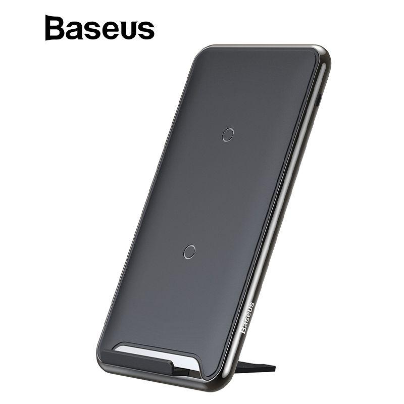 Chargeur sans fil Baseus 10W 3 bobines pour iPhone X/XS Max XR Samsung S9 Note9 Xiaomi Oppo multifonction Qi chargeur sans fil