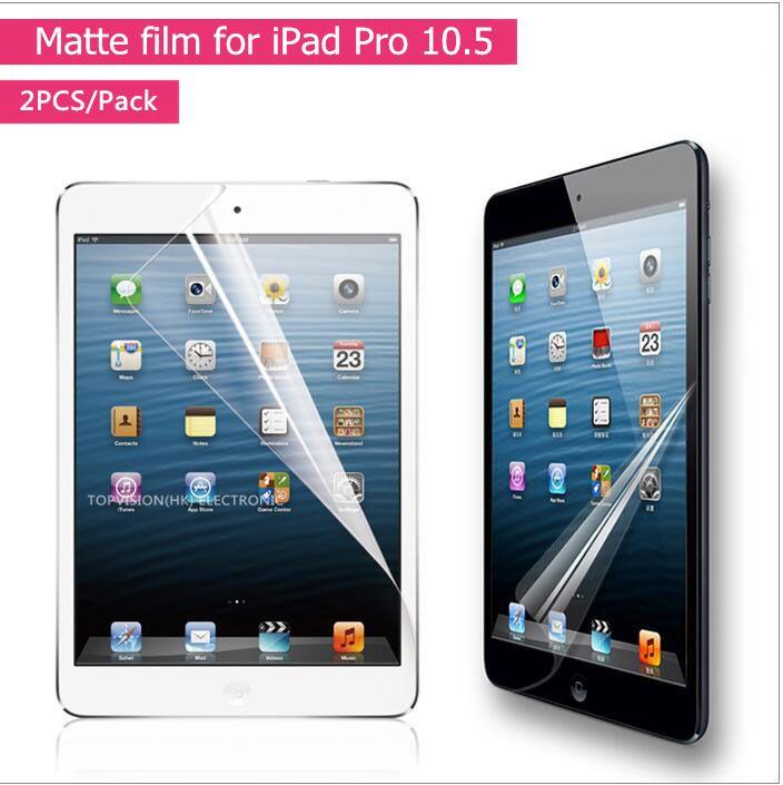 2 Teile/paket gute qualität matte film für apple ipad pro 10,5 schirmschutz vorn anti glare schutzfolie abdeckung