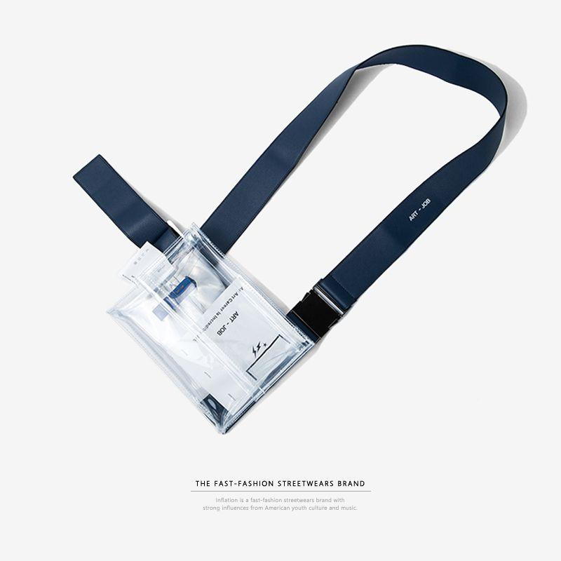 L'INFLATION Clair PVC Transparent Fanny Pack De Haute Qualité Robuste PVC Taille Sac Voyage Téléphone Ceinture Sac Pochette 152AI2017