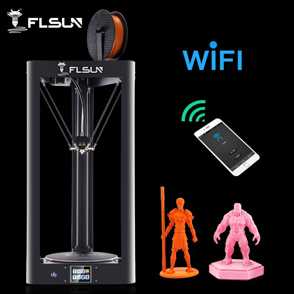 New Arrival FLSUN-QQ 3D Printer Pre-assembled 95% Large Printing Size 260*260*370mm Touch Screen Wifi Support SD Card Hot Bed