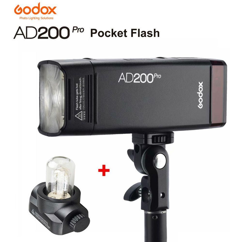Godox AD200Pro Outdoor Tasche Flash Licht 200Ws TTL 2,4G 1/8000 w/2900 mAh Batterie 2,4G Wireless X system