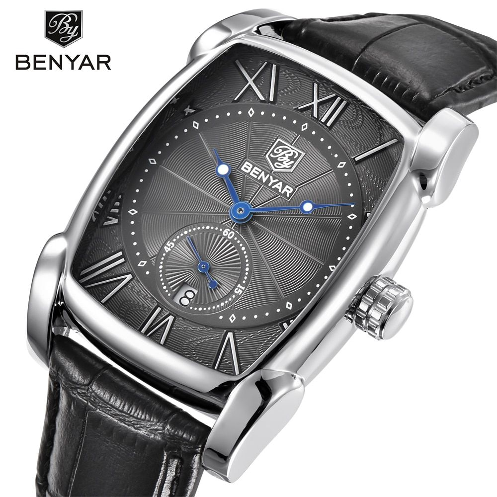 BENYAR Brand Luxury Men's Watch Date 30m Waterproof Clock Male Casual Quartz Watches Men Wrist Sport Watch erkek kol saati
