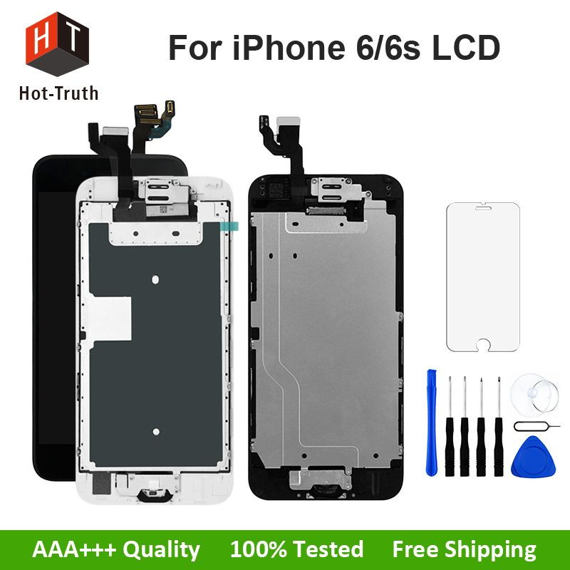 Hot-Truth Full Assembly For iPhone 6 6S 7 LCD Display Touch Screen Digitizer Replacement+Home Button+Front Camera Tool AAA+++LCD