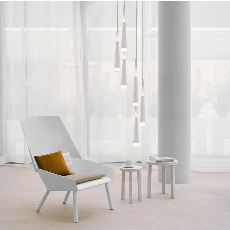 Modern 1.5-3.5M Milan Led Cone lights Spiral pendant lamps for dining room drop light long Spiral Stair lighting pendant lights