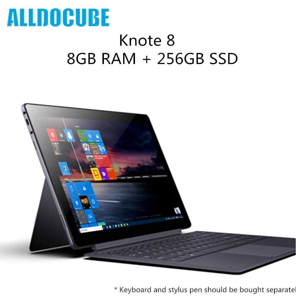 Original ALLDOCUBE KNote 8 Tablet PC Intel Core m3 8GB RAM 256GB SSD 2K Display WiFi Bluetooth Portable Laptop Type C