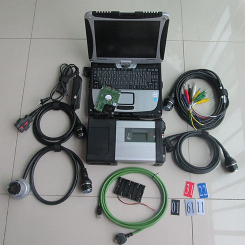 2018 diagnostic tool mb star c5 with laptop cf19 touch + software with develop mode newest version 500gb hdd ready to work