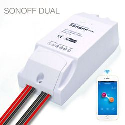 Sonoff Dual Home Automation Wireless WiFi Smart Switch 10A Smart Switch Module Remote Control 2CH Wifi Smart Switch