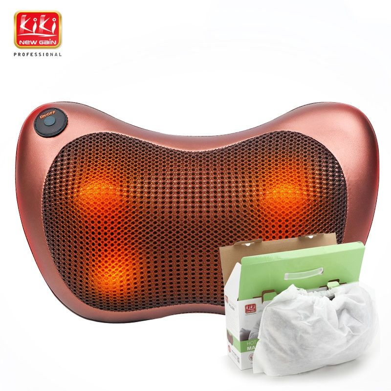 KIK NEWGAIN neck multifunction dish massager car massage pillow Cushion cervical lumbar leg massager <font><b>body</b></font> massager shoulder