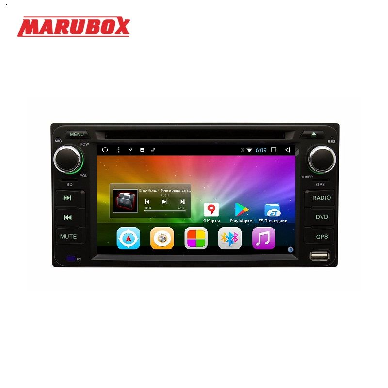 MARUBOX 6A100DT8, Android 8.1, 2G RAM 32G ROM, Car DVD Player for Toyota Hilux Fortuner Innova old camry/corollaold vios/RAV4