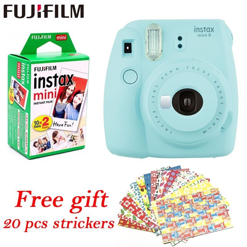 Fujifilm Instax Mini 9 Instant fuji Camera+ 20 sheets films Photo Camera Pop-up Lens Auto Metering Mini Printing Digital Camera