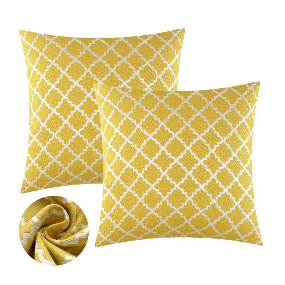Coussins décoratifs couvre pour canapé canapé lit jaune bleu coussins couvre cas moderne luxe doux taies d'oreiller 45x45 50x50