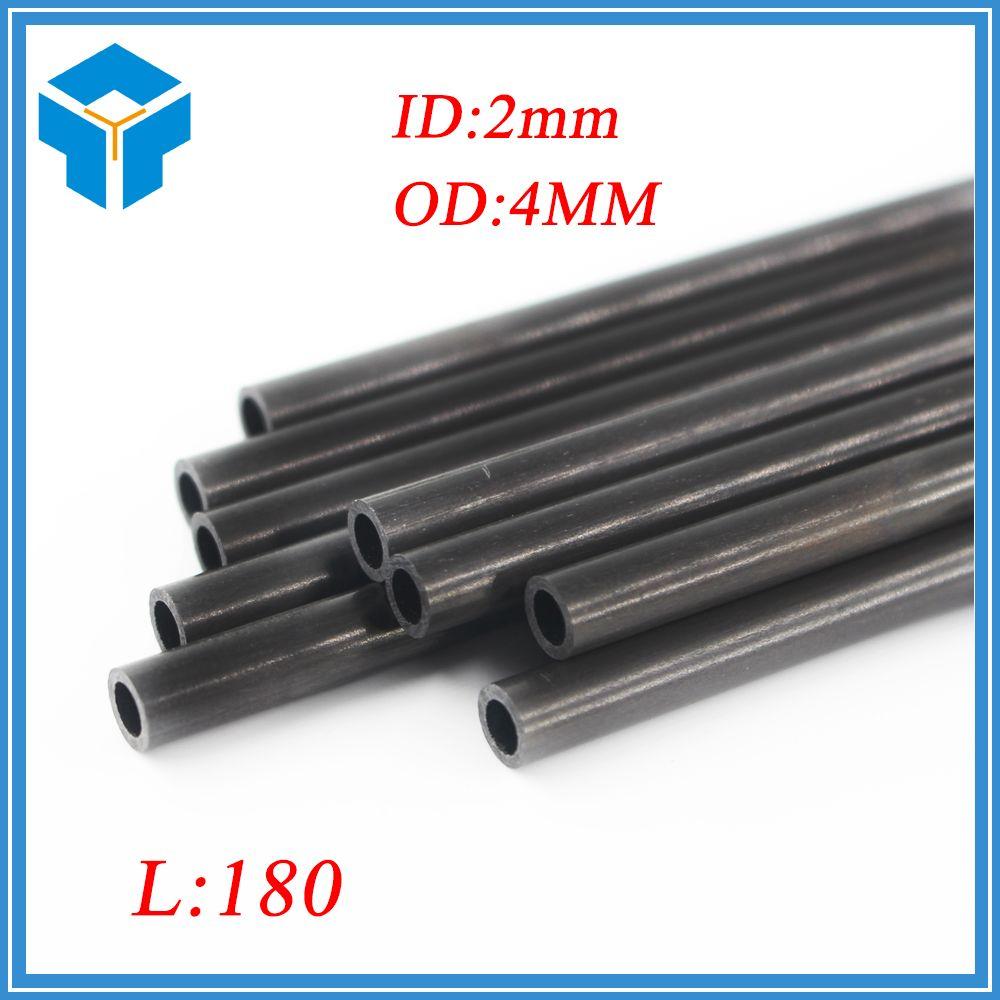 4* 180 3D printer part accessory parts Reprap Delta Kossel OD:4* 180mm 3K Carbon tube ID=2mm carbon rods kit/set Carbon Rods Kit