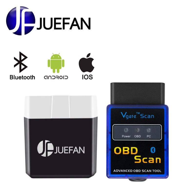 Elm327 Bluetooth ELM 327 V2.1 V 2.1 OBD2 Adapter for Android or IOS Scanner Torque Code Reader Diagnostic Tool Bluetooth 4.0 ELM