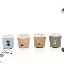 Creative pot cactus porte-stylo de bureau boîtes toile art brosse pot accessoires Photo Simple et belle boîte à clés petit stylo titulaires