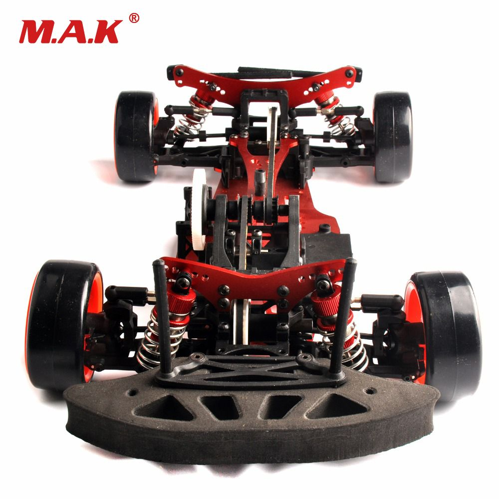 1/10 alum. aleación + 4wd RC drift coche en carretera/4wd 1:10 drift rc car Racing Carbon Fibra eje unidad Marcos Kit