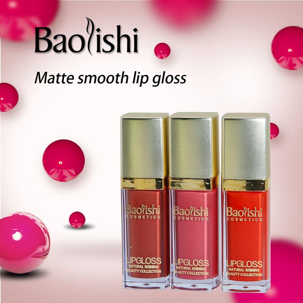 Pintura de Labios Lápiz Labial Mate lápiz labial baolishi Sexy Hot Sexy Kit a prueba de agua duradero brillo de Labios lápiz labial Líquido maquillaje de la marca