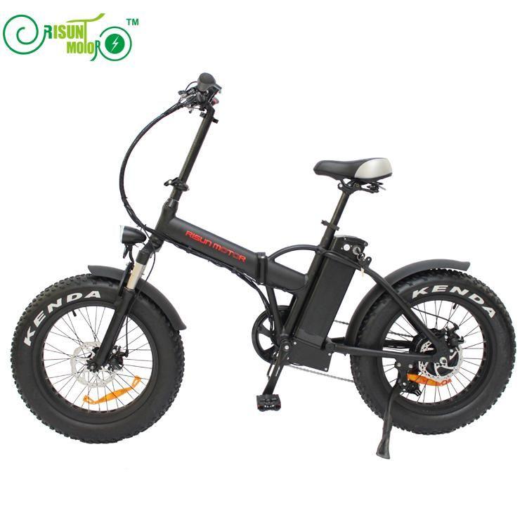 20inch electric bicycle fat tire snow bike 500w high speed motor EBIKE 48V li-ion battery 4.0 tires fold electric mountain bike