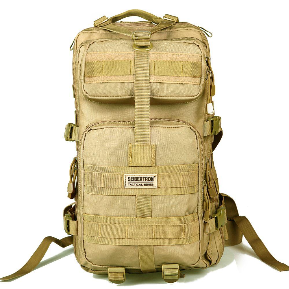 Seibertron im freien taktische rucksack 3 p molle tasche wandern camping edc rucksack kompakte pack summit tasche 30l/45l wasserdicht