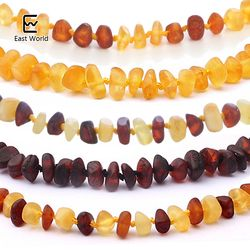 EAST WORLD 16 Colors Amber Teething Bracelet/Necklace for Baby Adult Lab Tested Authentic 8 Sizes Natural Amber Women Jewelry