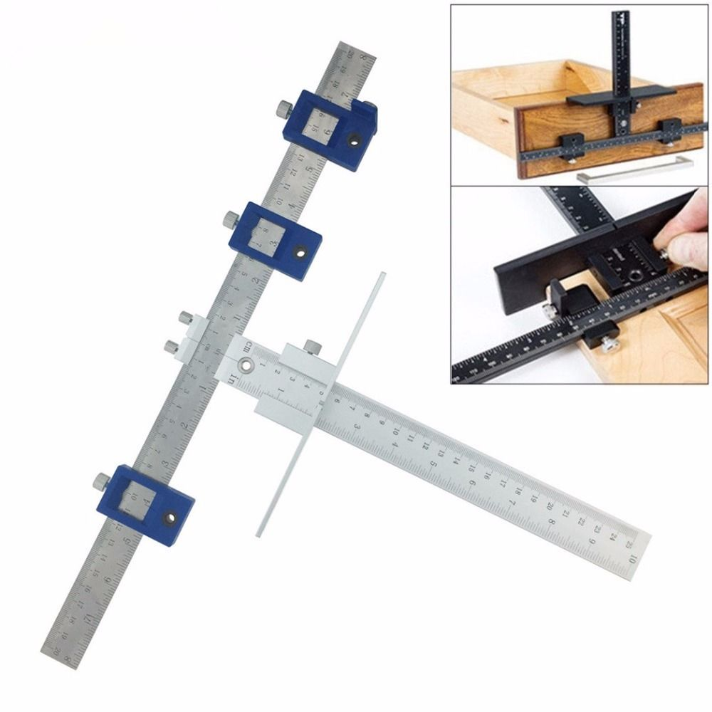 English/MetricCabinet Hardware Jig for Handles and Knobs on Doors and Drawer Fronts,Fastest and Most Accurate Knob & Pull J