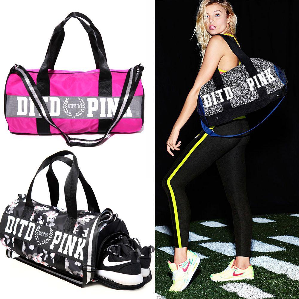 2017  Women Casual Pink Bag Professional Femal Fit Shoulder  Bag Hot Female 2-way  Pink  Duffel Bag