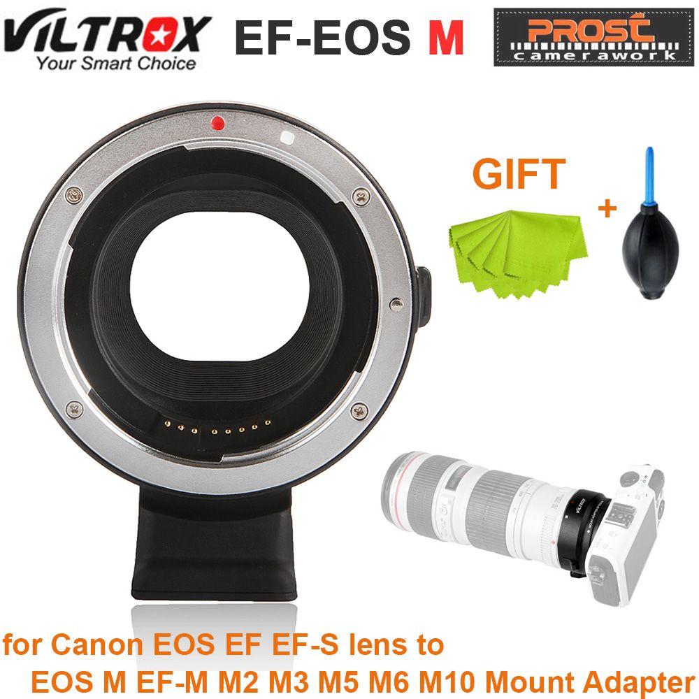 Viltrox EF-EOSM Electronic Auto Focus Lens adapter for Canon EOS EF EF-S lens to EOS M EF-M M2 M3 M5 M6 M10 Mount Adapter