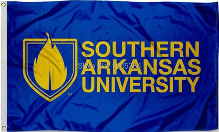 NCAA Southern Arkansas University Flag Banner New 3x5FT 90x150CM Polyester 8898, free shipping
