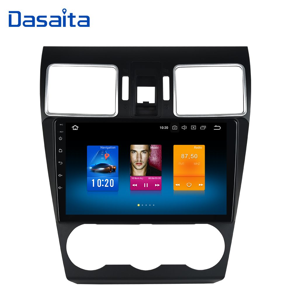 Dasaita 1 din Car radio with GPS Android 8.0 for Subaru Forester WRX XV 2016 2017 Stereo with 9